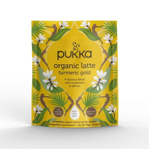Pukka Herbal Ayurveda Organic Turmeric Gold Latte 90g (Pack of 4)