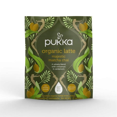 Pukka Herbal Ayurveda Organic Majestic Matcha Chai Latte 90g (Pack of 4)