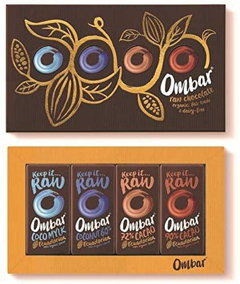 Ombar Chocolate Bar Gift Box (4x35g) (Pack of 5)