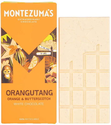 Montezuma'S Chocolate Orangutang - White Chocolate With Orange & Butterscotch 90g