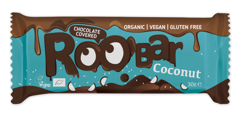 RooB Organic Chocolate Covered Coconut Bat 30g (Pack of 16)