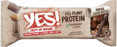 YES! Almond Peanut And Double Dark Choc Protein Bar 45g (Pack of 12)