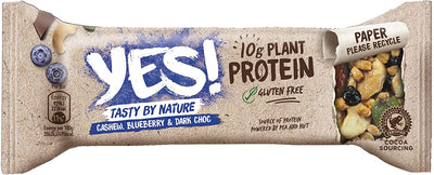 YES! Cashew Blueberry And Dark Choc Protein Bar 45g (Pack of 12)