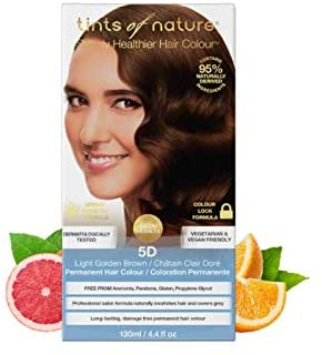 Tints of Nature Natural 5D Light Golden Brown Permanent Hair Colourant 130ml
