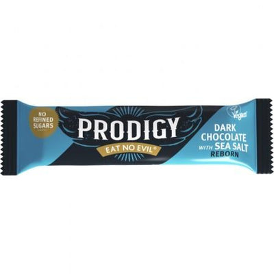 Prodigy Dark Chocolate Bar with Sea Salt 35g (Pack of 24)