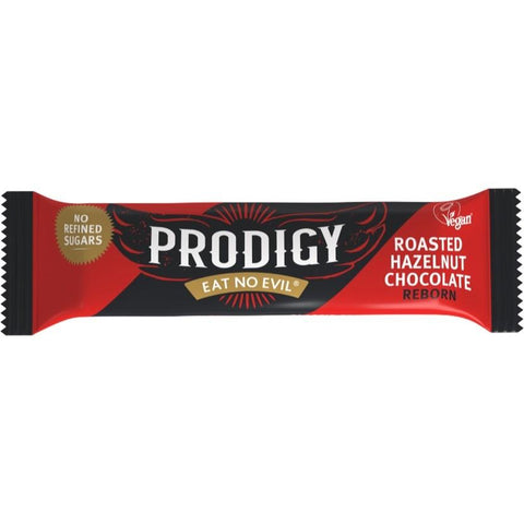 Prodigy Roasted Hazelnut Bar 35g (Pack of 24)