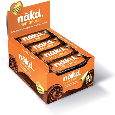Nakd Bars Peanut Chocolish Big Bite 50g (Pack of 16)