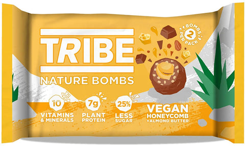 Tribe Vegan Honeycomb + Almond Butter Nature Bomb 40g (Pack of 12)