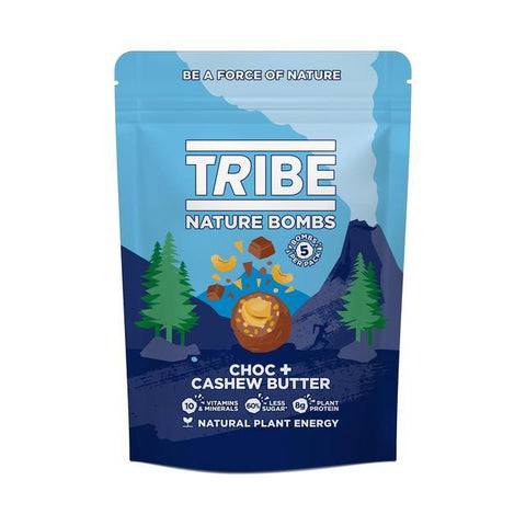 Tribe White Choc Berry + Cashew Butter Nature Bomb Sharing 100g (Pack of 7)