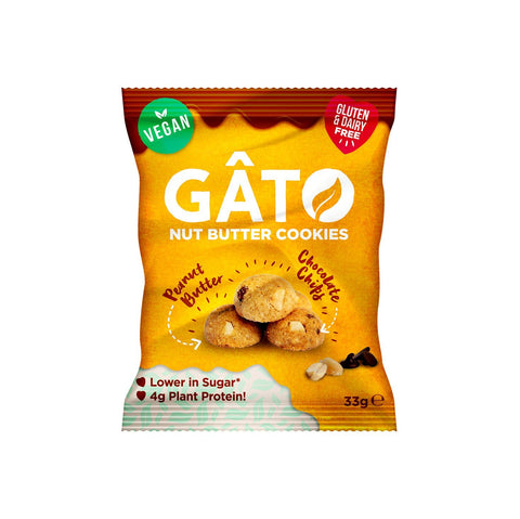 Gato Minis Choc Chip Peanut Butter 33g (Pack of 10)