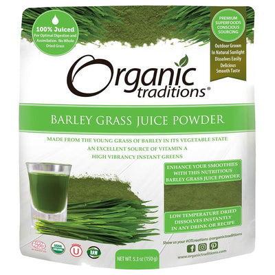 Organic Traditions Organic Barley Grass Juice Powder 150g (Pack of 6)