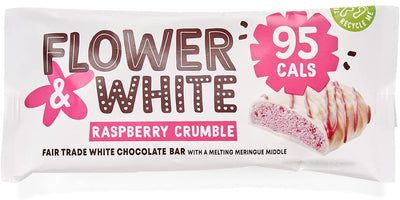 Flower & White Raspberry Crumble Meringue Bar 20g (Pack of 12)
