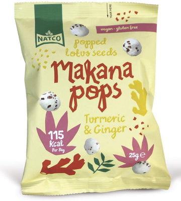 Makana Pops Turmeric & Gnger Flavoured Makana Pops 25g (Pack of 12)