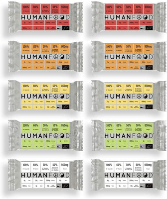 Human Food Organic Wholefood Bar Orange Oil 76g (Pack of 10)