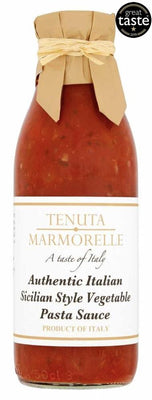Tenuta Marmorelle Pasta Sauce Sicillian Style Vegetable 500g (Pack of 6)