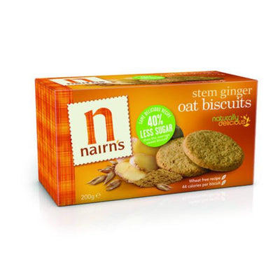 Nairns Stem Ginger Biscuits - Wheat Free 200g