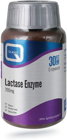 Quest Lactase Enzyme 200mg 30 Tablets