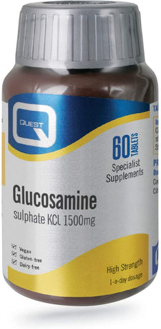 Quest Glucosamine Sulphate KCL 1500mg 60 Tablets
