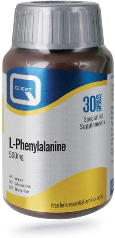 Quest L-Phenylalanine 500mg 30 Capsules