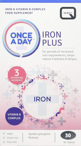 Quest Once A Day Iron Plus 30 Tablets