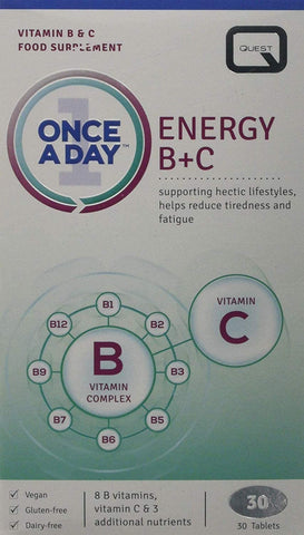 Quest Once A Day Energy B+C 30 Tablets