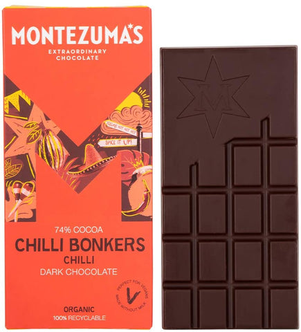Montezumas Chilli Bonkers Dark Bar 90g (Pack of 12)