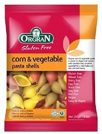 Orgran Corn & Vegetable Shells 250g