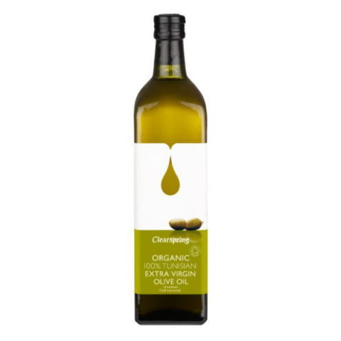 Clearspring Extra Virgin Tunisian Olive Oil - Organic 1lt