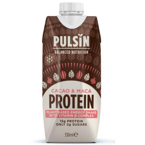 Pulsin Cacao & Maca Ready To Drink Protein Shake 330ml (Pack of 12)