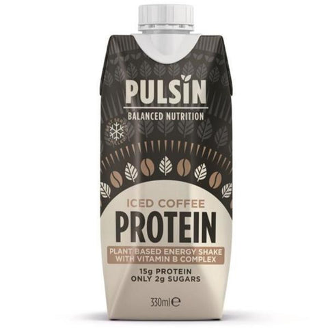 Pulsin Iced Coffee Ready To Drink Protein Shake 330ml (Pack of 12)