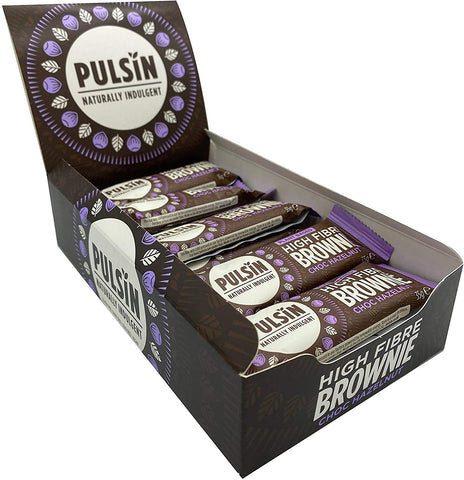 Pulsin Choc Hazelnut Brownie 35g (Pack of 18)