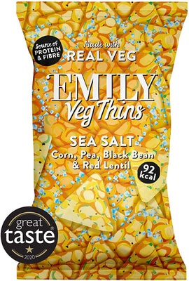 Emily Crisps Sea Salt Veg Thins 80g (Pack of 8)