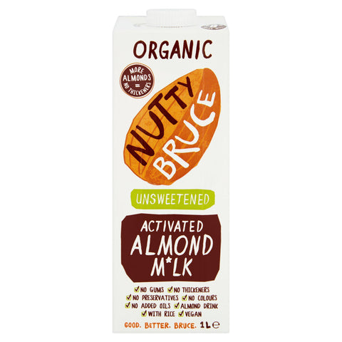 Nutty Bruce Activated Unsweetened Almond M*lk 1Ltr (Pack of 6)