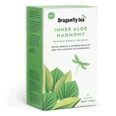 Dragonfly Teas Organic Inner Aloe Harmony Tea 20 Bags (Pack of 4)