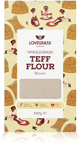 Lovegrass Ethiop Brown Teff Flour 500g