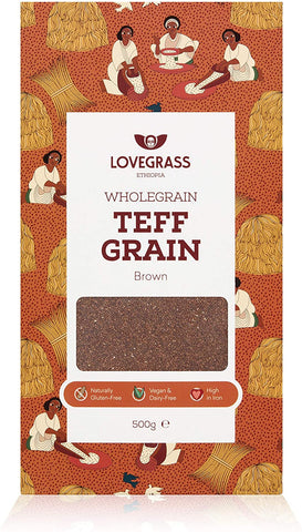 Lovegrass Ethiop Brown Teff Grain 500g