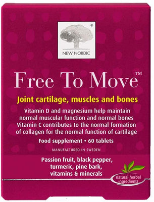 New Nordic Free To Move 60 Tablets - Joint Muscles & Bones
