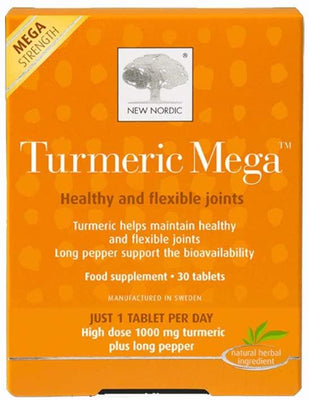 New Nordic Turmeric Mega 30 Tablets - Healthy Flexible Joint