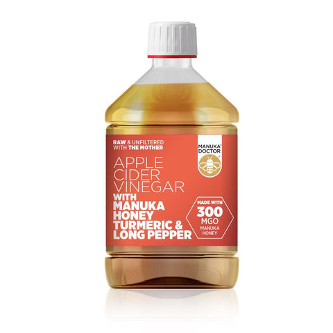 Manuka Doctor Apple Cider Vinegar with Manuka Turmeric & Long Pepper 500ml