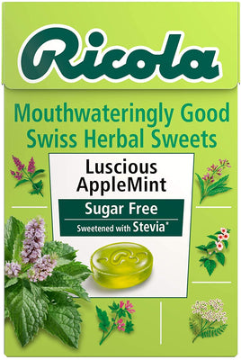 Ricola Box - Apple Mint Sugar Free 45g (Pack of 20)