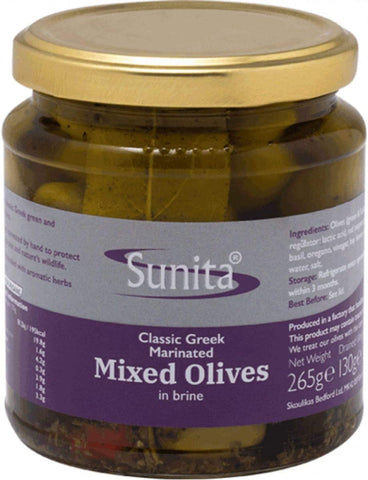Sunita Olives Marinated Mixed 265g