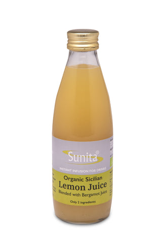 Sunita  Lemon Juice With Bergamot - Organic 250ml (Pack of 6)