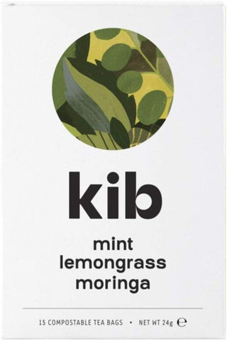 Kib Tea Mint Lemongrass & Moringa Tea 15 Bags (Pack of 4)