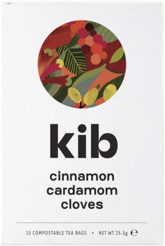 Kib Tea Cinnamon Cardamom & Clove Tea 15 Bags (Pack of 4)