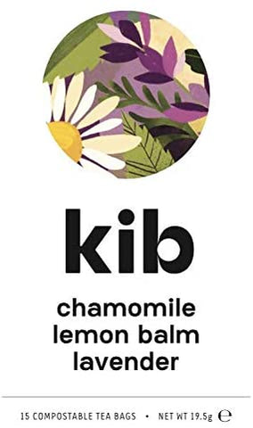Kib Tea Chamomile Lemon Balm & Lavender Tea 15 Bags (Pack of 4)