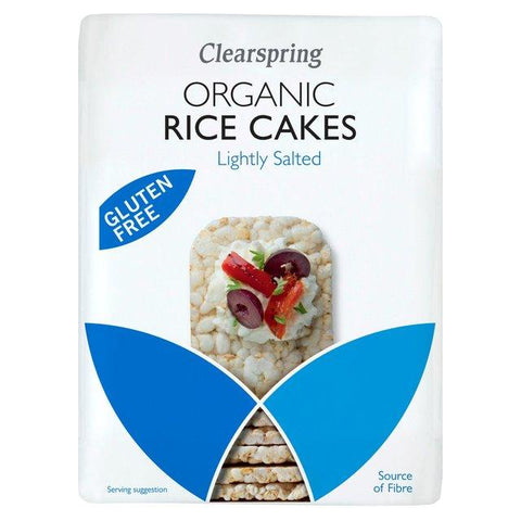 Clearspring Organic Lightly Salted Brown Rice Cakes 120g (Pack of 6)