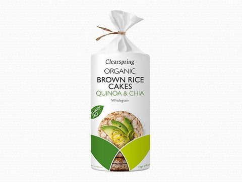 Clearspring Organic Quinoa & Chia Brown Rice Cakes 120g (Pack of 6)