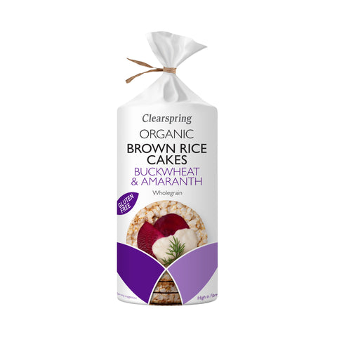 Clearspring Organic Buckwheat & Amaranth Brown Rice Cakes 120g (Pack of 6)