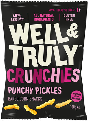 Well & Truly Crunchies - Punchy Pickles 30g (Pack of 10)