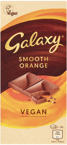 Galaxy Vegan Smooth Orange Bar  (10 x 100g)